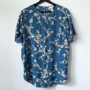 H&M blue tunic shirt